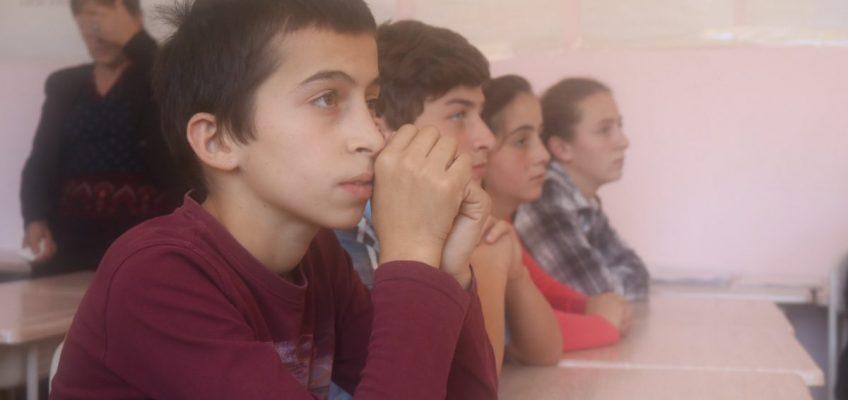სტუდენტური დისკუსია სოფელ ყინჩაურის საჯარო სკოლაში